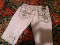white and red floral denim shorts 743 mi