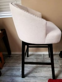 White swivel barstool