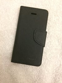 black leather smartphone cover