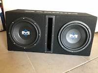 """Two 10"""" subwoofers in ported box El Paso, 79932"""