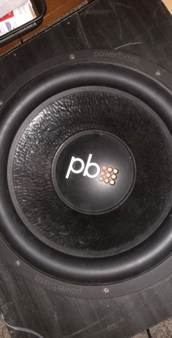 "Powerbass 15"" sub and sealed big box works great-Pickup only"