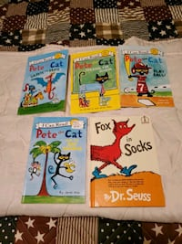 Pete the cat books and one Dr.Seuss book 5 total  Johnstown, 15905