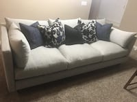 Gray 3-seat sofa, used 6 months. Comes with cushion   Norman, 73019