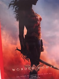 6x3 Wonder Woman poster(must go today) Kennesaw, 30152