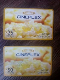 Cineplex movies gife cards Edmonton, T5H 2Y9