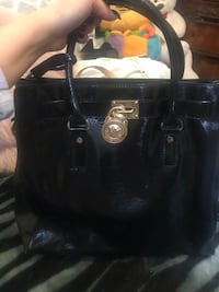 black leather Michael Kors tote bag Lodi
