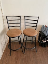2 Black Bar Stools