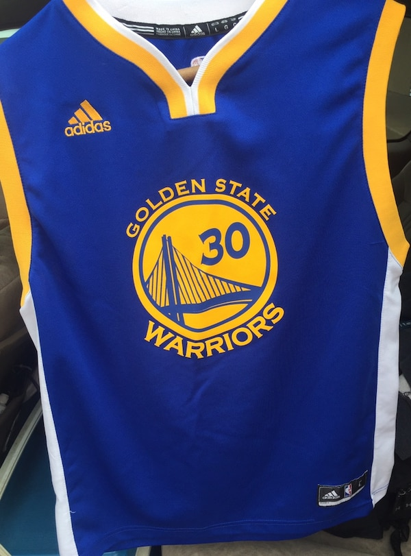 new product ad337 ce625 Golden State Warriors Stephen Curry Jersey size kids large