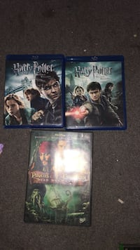 Blu Ray harry potters: the deathly hallows part 1&2 and pirates of the Caribbean 2 Maple Ridge, V2X