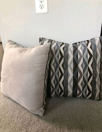 two gray and black throw pillows 34 km