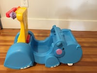 blue and yellow plastic toy 370 mi
