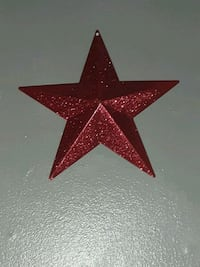 red and white star wall decor 377 mi