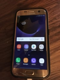 Unlocked Galaxy S7 (Has cracks) with Case $110 FIRM NO TRADES NO HOLDS Indianapolis, 46222