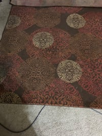 brown and black floral area rug Bryant, 72022