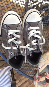 Pair of gray converse all star low-top sneakers Wentzville, 63385