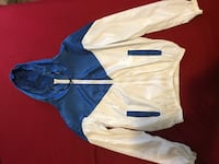 Blue and white hooded zip-up jacket Fayetteville, 28303