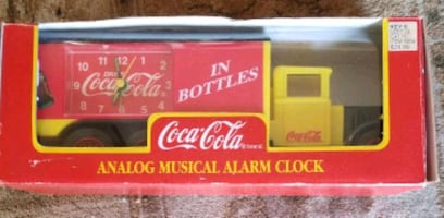 Coca cola analog alarm clock