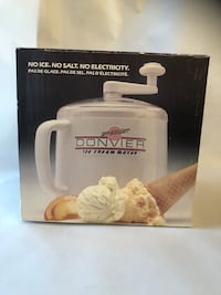 Donvier Ice Cream Maker 1 pint, Red