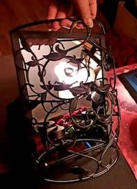 Iron Tea Candle Mirror