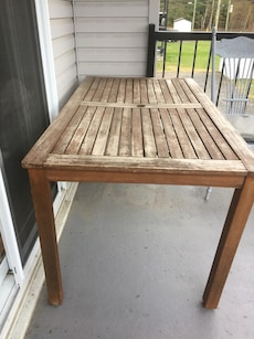 rectangle beige wooden dining table