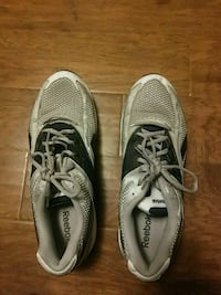 blue, silver, and white reebok shoes Lubbock, 79414