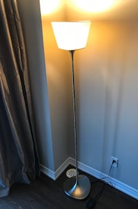 Floor Lamp with a dimmer Switch in Brushed Steel. (New Condition)