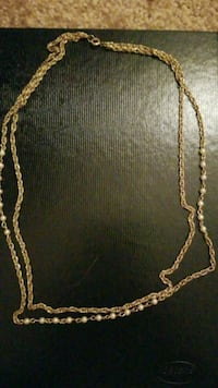 """22"""" Gold beaded double strand chain necklace Austin, 78728"""