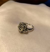 Sterling Silver Overlay 3D Rose Ring Size 8 Greenville, 29617