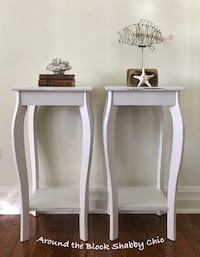 Pair of shabby chic side tables/nightstands