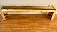 6ft Waterfall Bench - (New and Handcrafted) Lafayette