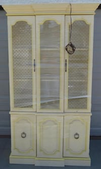 Vintage Hardwood 1960s French-Style Cupboard. With Interior Lighting. Las Vegas