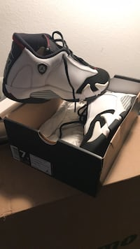White and black Air Jordan 14 Retro BG Germantown, 20874