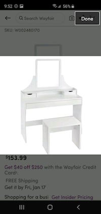 Makeup Dressing Table - Vanity and Stool