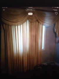 3 sets of Custom drapes with sheers and valance. comes with hooks and brackets. No rods. Edmonton, T5X