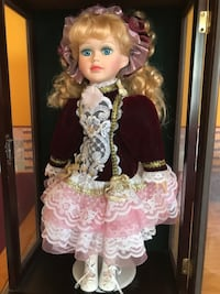 Porcelain Doll - in display case Laytonsville