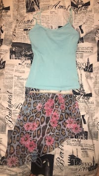 Bathing suit skirt cover and spaghetti strap shirt Toronto, M6N 3Y2