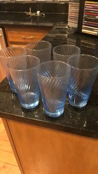 6 glasses very light tint blue- Silver Spring, 20905