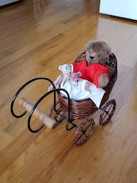 Carriage with Handmade Teddy Bolton, L7E 1X4