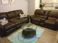 Brown Recliners couch and two seater Tampa, 33605