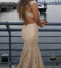 Prom dress with train