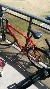 red and black hardtail mountain bike Toronto, M9V 3T1