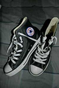 Brand new leather converse high tops