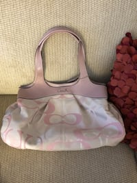 Women's pink and white coach monogram hobo bag Essex, 21221