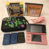 Pink nintendo 3ds system handheld with 2 games case charger  Burtonsville, 20866