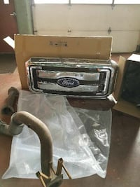 Grill and stock tail pipe exhaust from a 2016 F250