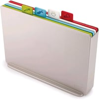 Joseph  Index Plastic Cutting Board Set with Storage Case Color-Coded