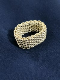 Authentic Tiffany & Co. Somerset Mesh Ring  Toronto, M8Z 0C3