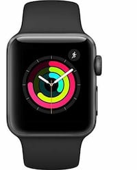 black Apple Watch with black sports band New York, 10027