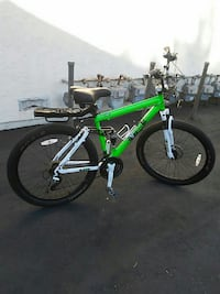 green and black full-suspension mountain bicycle Stanton, 90680