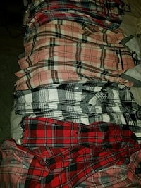 plaided shirts 3 of them are medium, 1 is a small  Covina, 91722